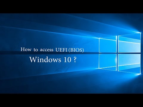 How To Access Bios In Windows 10 In Dell Asus Hp Etc