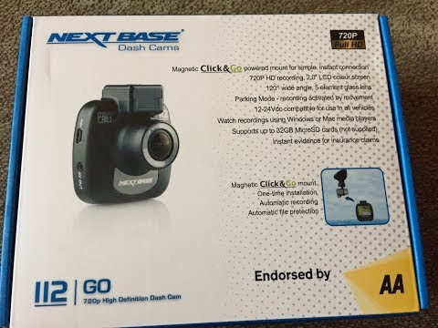 NEXTBASE 720P 112 GO High Definition Dash Cam Review and Unboxing