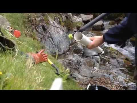 Manual Gold Dredging Pump Blooper Video