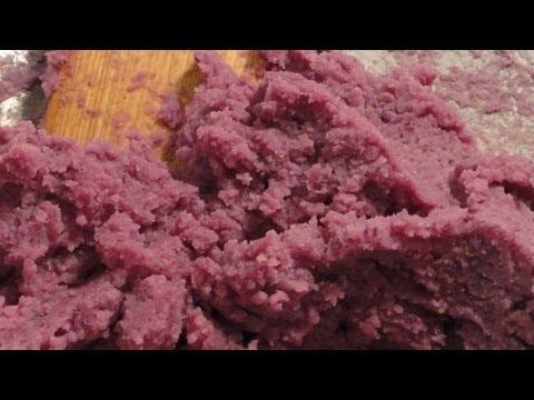 How To Make Filipino Purple Yam Dessert. Famous Philippine Dessert Halayang Ube - Ubi