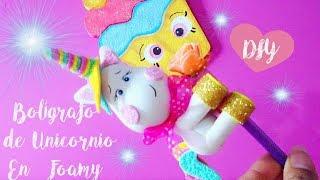 Lapicero De Unicornio Diy Fafupluma Buxrs Videos Watch Youtube