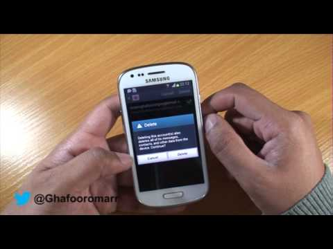 Deleting accounts on Samsung Galaxy S3 Mini