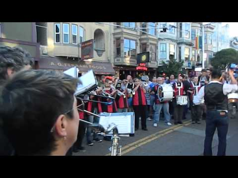 SF Pride Marching Band at Prop 8 defeat celebration in the SF Castro #ProudToLove