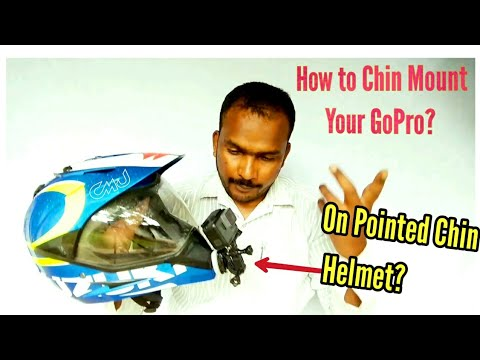 How to Chin Mount GoPro on Pointed Chin Helmet? [Hindi]