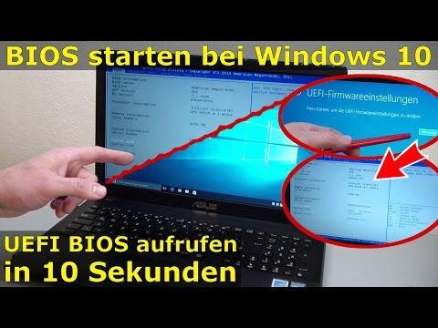 Bios starten Windows 10 - Notebook ins UEFI BIOS gelangen - Laptop