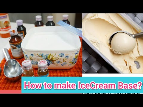 जानिए घर पर Ice-Cream Base कैसे बनाएँ ? | 1/2लिटर दूध में 1लिटर Ice-Cream बनाएँ | How to make base?