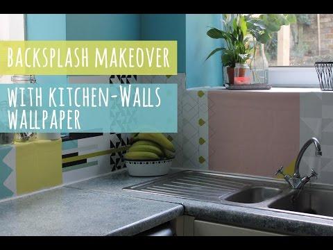 Backsplash update with wallpaper