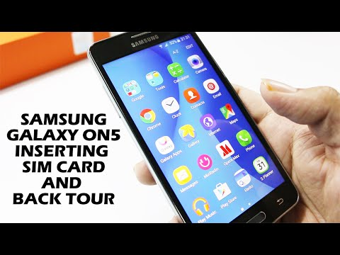 Inserting Simcard on Samsung Galaxy On5 and Back tour.