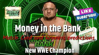 New Match Card and Winners predictions for WWE Money in the Bank 2018