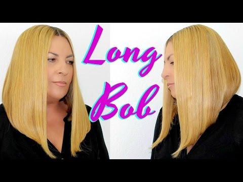 Easy Tutorial How To Cut A Blonde Long Bob / Asymmetrical Lace Frontal Front Wig Hair By BestHairBuy