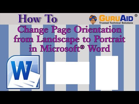 How to Change Page Orientation from Landscape to Portrait in Microsoft® Word - GuruAid