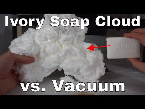 How To Make An Ivory Soap Cloud In The Microwave: Then Destroy It (Vacuum Chamber vs Press)!