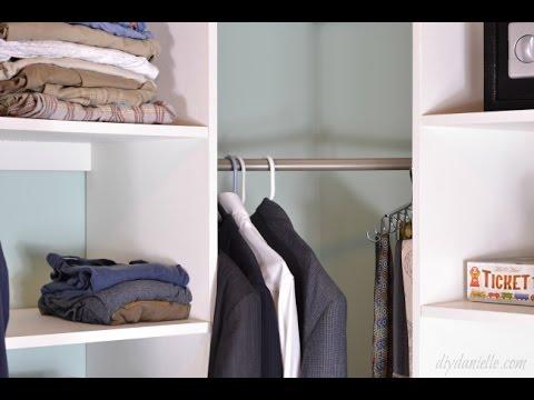 DIY Master Closet Shelving