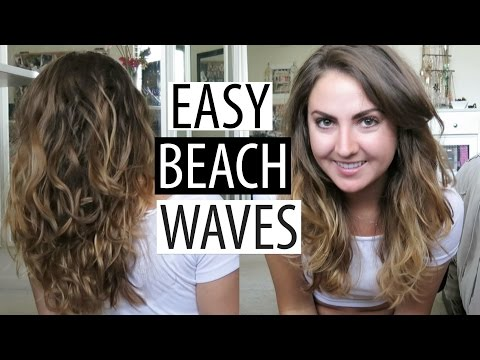 OVERNIGHT BEACH WAVES | tips to fight frizz