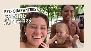 Pre- Quarantine: Cooking Outdoors / Boodle Fight and plant-based Ginataang Payaw   Happy Islanders