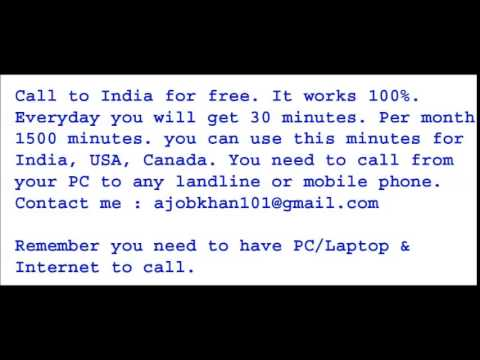 Free call to India from Pc