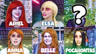 DISNEY PRINCESS ZOMBIES. AFTER HALLOWEEN VISIT TO ZOMBIETOWN. (Totally TV)