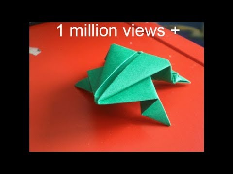 Origami jumping frog: How to make a paper frog that jumps high and far - Easy tutorial