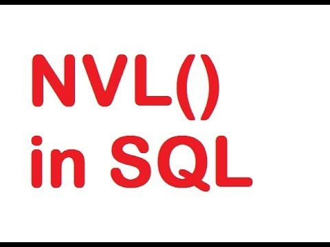 NVL Function in SQL Query