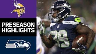 Vikings vs. Seahawks | NFL Preseason Week 2 Game Highlights