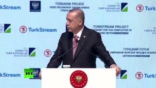 Putin & Erdogan to open Turkish Stream gas pipeline's offshore section