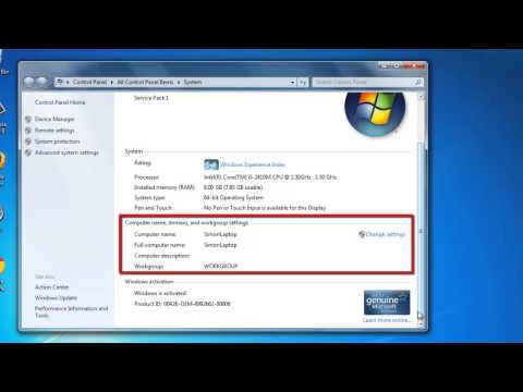 How to Rename a Work Group in Windows