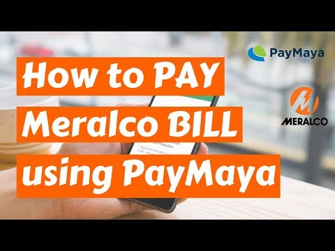 How to pay Meralco Bill using PayMaya