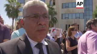 Protest over murder of Jordanian writer