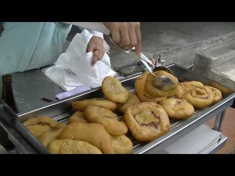 Fried Buns with Sesame Seeds and  Red Bean Paste