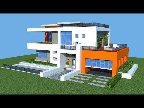MINECRAFT: How to build a Modern House - Tutorial | Big Mansion House |Vanilla 2018| 1.11/1.12/1.13
