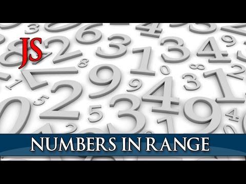 Printing numbers in a range using Javascript