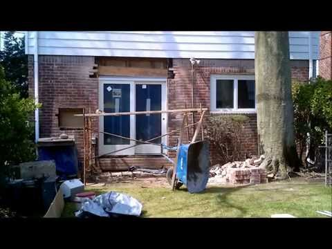 Sliding Glass Opening In Brick Wall (Time Lapse)
