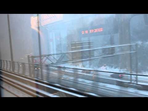 Riding Link light rail to Sea-Tac Airport in a snow storm
