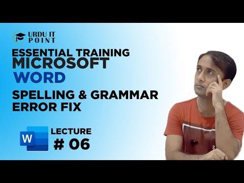 Microsoft Word 2010 Automatically Check Spelling, Grammar Error & Setup Working Area
