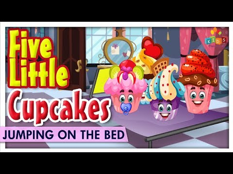 Five Little Cupcakes Jumping On The Bed - Learn Jumping On The Bed Kids Rhymes - Kids Carnival