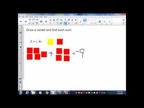 Pre Algebra sec1 5 Adding Integers