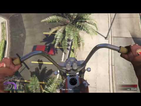 GRAND THEFT AUTO V back flip on chopper
