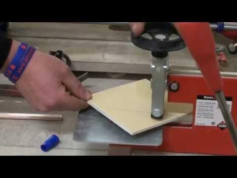 Cutting Tiles 2.) 45 degree cut