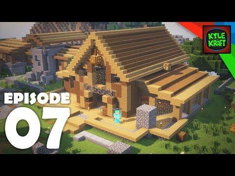 RUSTIC STORAGE HOUSE EXTERIOR | Ep. 07 Survival Minecraft