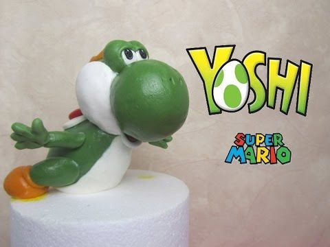 Yoshi (Mario Bross) in fondant tutorial - Come fare Yoshi di Mario Bross in pasta di zucchero