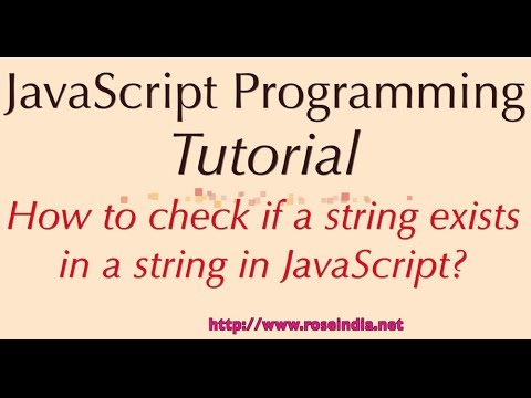 How to check if a string exists in a string in JavaScript?