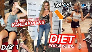 Download I tried Khloe Kardashians Diet & Workout for a week...and this is what happened!!! Video