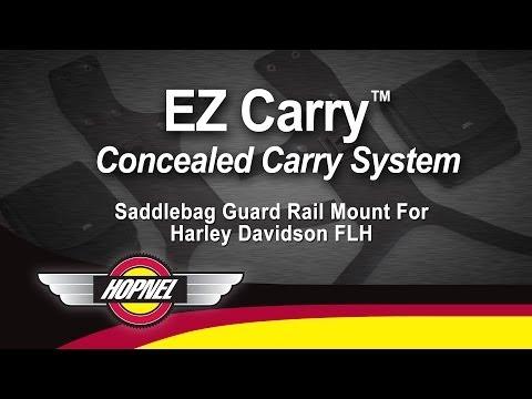 EZ Carry Saddlebag Guard Rail Mounts For Harley-Davidson FLH