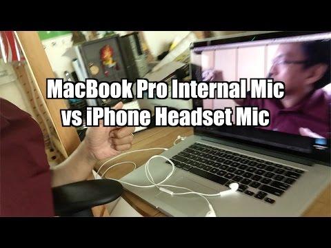 MacBook Internal Mic vs iPhone Headset Mic - Voice Recording Quality Test