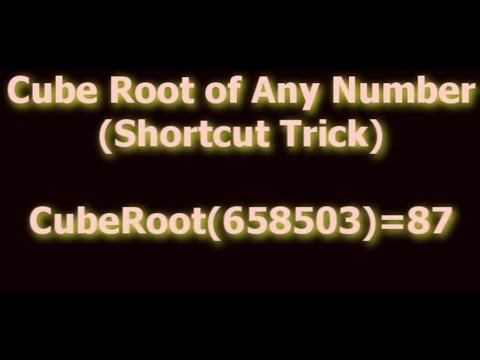 Shortcut Math Tricks - Cube Root of Any Number