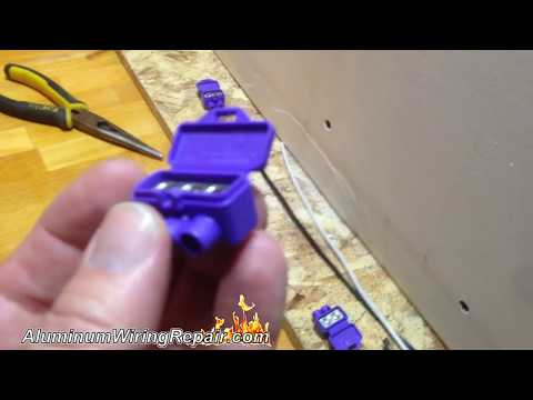 Aluminum Wiring Repair - How to Install AlumiConns to Fix Aluminum Wire Hazards Permanently
