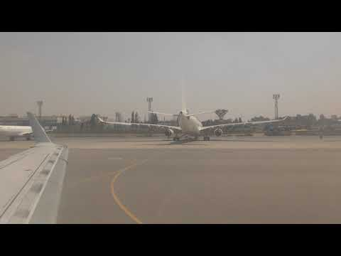 Egyptair Flight MS395 taxiing to position for take off (Cairo to Aswan)