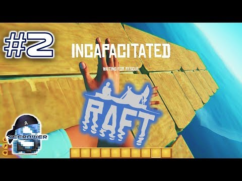 MASSIVE ISLAND EXPLORATION FAIL!  RAFT BUILDING AND SHARK SPEARING SURVIVAL ACTION - RAFT #2