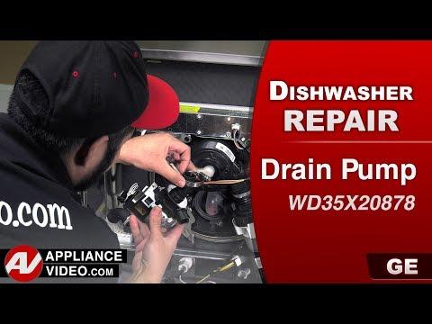 GE Dishwasher - Drain Pump not functioning - Diagnostic & Repair