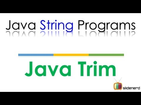 87 Java Remove Blank Spaces from String |